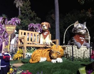 adopt a pet wins rose parade float award for beautiful. Black Bedroom Furniture Sets. Home Design Ideas